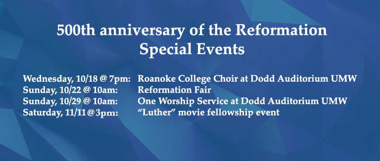 Reformation Events