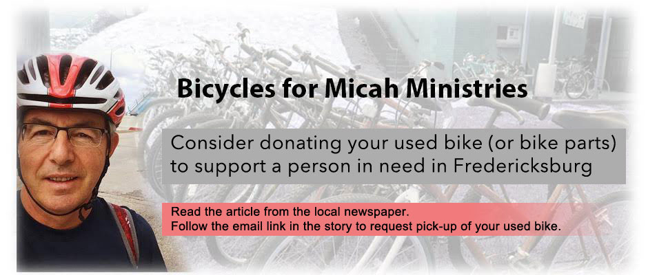 Bicycles for Micha Ministries