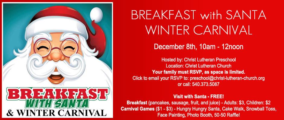 Breakfast with Santa: Dec. 8th
