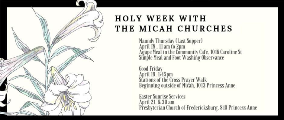 Micah Holy Week Services