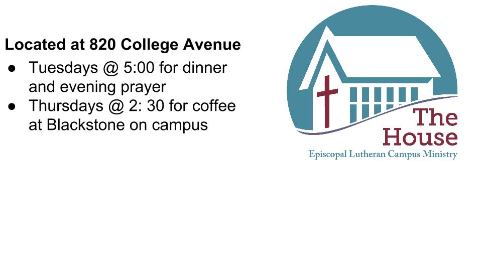 Episcopal Lutheran Campus Ministry